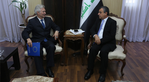 Secretary General of the Council of Ministers discusses with the head of the European Union mission development projects in Iraq 2018-12-04