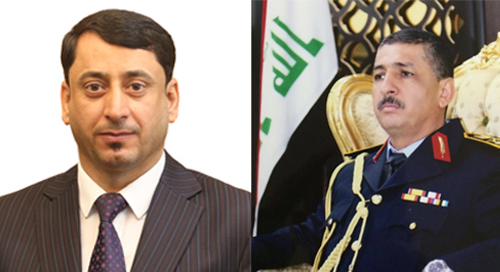 Hamid al-Ghazi officially receives the post of Secretary-General of the Council of Ministers from his predecessor d. Mehdi Alalak 2019-04-28-01